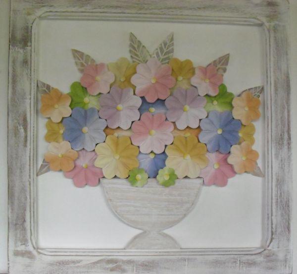 Artesanato De Madeira Para Plantas ~ Quadro de madeira com flores Minas Artesanato